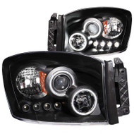 ANZO Black Projector Headlights With CCFL Halo For 06-09 Dodge Ram 2500* 111104