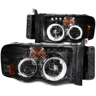 ANZO Black Projector Headlights With CCFL Halo For 03-05 Dodge Ram 2500* 111166
