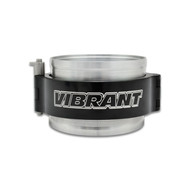 """Vibrant 2.5"""" Hd Clamp Assembly For 2.5"""" Od Tubing (aluminum)- Black 12515"""