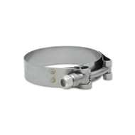 """Vibrant 4-1/2"""" Stainless T-bolt Clamps (2) For 4-1/2"""" Connections 2797"""