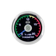 ISSPRO EV2 Pyrometer Gauge 0-2000F (With Color Band) R34031