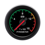 ISSPRO EV2 Series Pyrometer Gauge With Color Band 0-1600F R32092