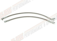 99-03 Ford 7.3L Powerstroke Braided Stainless Fuel Line Set - Fuel Return to Cylinder Head