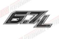 """OEM """"6.7L"""" Powerstroke Diesel Nameplate - BC3Z9942528C"""