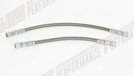 94-97 Ford 7.3L Powerstroke Braided Stainless Fuel Line Set - Fuel Return to Cylinder Head