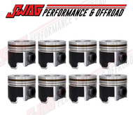ENGINETECH 6.4L PISTON SET WITH RINGS