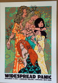 WIDESPREAD PANIC - SYRACUSE - 2013 - ARTIST PROOF - JERMAINE ROGERS -   POSTER