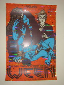 WEEN - FOIL EDITION - ARTIST PROOF - FILLMORE - JERMAINE ROGERS - NYE 2011 -