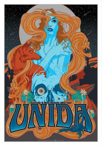 UNIDA - KYUSS - VANCE KELLY - DOZER - 2013 AUSTRALIA NEW ZEALAND TOUR POSTER -