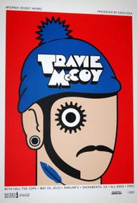 TRAVIE McCOY - CALL THE COPS - HARLOW'S - MYSPACE SECRET SHOW CONCERT POSTER
