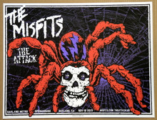 THE MISFITS - THE ATTACK - OAKLAND - CALIFORNIA  - 2013 - TOUR POSTER -