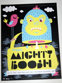 THE MIGHTY BOOSH  - 2009 - BLUE VARIANT - MYSPACE SECRET SHOW CONCERT POSTER