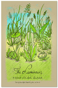 THE LUMINEERS  - BERLIN - 2013 - TOUR POSTER - LARS KRAUSE - EDITION 66