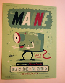 THE MAINE - DISCO CURTIS - THE ECHOPLEX - MYSPACE SECRET SHOW CONCERT POSTER