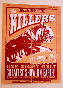 THE KILLERS - BATTLE BORN - LAS VEGAS - MYSPACE SECRET SHOW TOUR POSTER