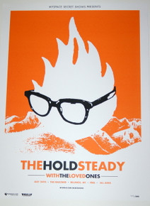 THE HOLD STEADY W/ THE LOVED ONES - 2008 - MYSPACE SECRET SHOW CONCERT POSTER