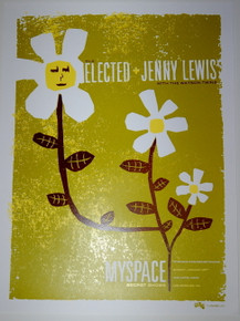 THE ELECTED & JENNY LEWIS - THE HOTEL CAFE - 2006 - MYSPACE SECRET SHOW POSTER