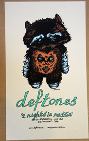 THE DEFTONES - RUSSIA - RARE - MOSCOW  - 2006 -  PROOF - JERMAINE ROGERS - POSTER