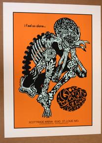THE DEFTONES - MASTODON - ALICE- 2010 - #12/60 -ST.LOUIS - TOUR POSTER - JERMAINE ROGERS