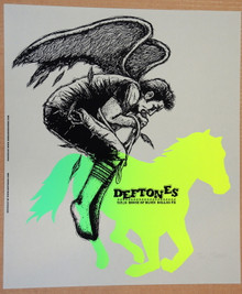 THE DEFTONES - JERMAINE ROGERS - POSTER - DALLAS - 2007 - PROOF