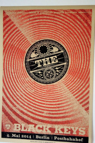 THE BLACK KEYS - TURN BLUE - BERLIN - 2014 - RED EDITION POSTER - LARS KRAUSE