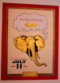 THE DECEMBERISTS - MOHAWK - AUSTIN - TEXAS - MYSPACE SECRET SHOW CONCERT POSTER