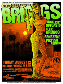 THE BRIGGS - ANGEL CITY OUTCAST - REDONDO BEACH - 2010 - TOUR POSTER - STAINBOY