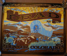 THE DEAD - DENVER- RICHARD BIFFLE - 2009 - RED ROCKS -TOUR POSTER - LESH - WEI R