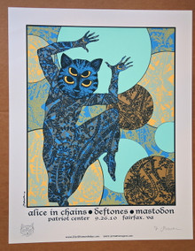 THE DEFTONES  - 2010 - ALICE IN CHAINS - EMBELLISHED A/P - MASTODON - FAIRFAX  - JERMAINE ROGERS - POSTER