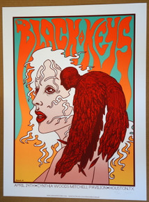 THE BLACK KEYS - HOUSTON - LONELY BOY -  2012 - JERMAINE ROGERS -TOUR POSTER