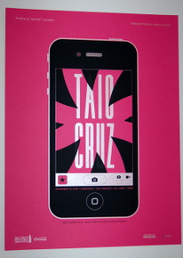 TAIO CRUZ - CINESPACE - 2010 - MYSPACE SECRET SHOW CONCERT POSTER