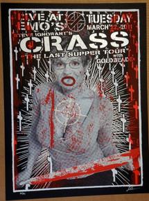 STEVE IGNORANT'S CRASS - 2011 - AUSTIN - EMO'S - POSTER - LINDSEY KUHN