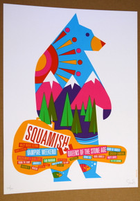 SQUAMISH MUSIC FESTIVAL - DAN STILES - VAMPIRE WEEKEND - QOTSA - TOUR POSTER