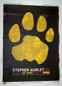 STEPHEN MARLEY - DAMIEN MARLEY - STUDIO A - MIAMI - MYSPACE SECRET SHOW POSTER