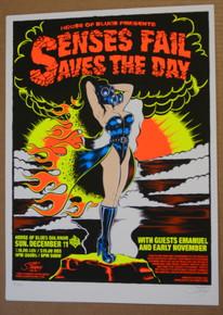 SENSES FAIL - SAVES THE DAY  - HOUSE OF BLUES - ORLANDO - TOUR POSTER - STAINBOY
