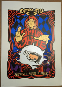 SHAWN WHITE - RARE - X GAMES - POSTER - MALLEUS - OAKLEY SIGNATURE SERIES A