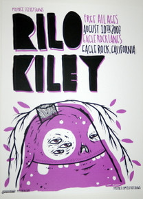 RILO KILEY - EAGLE ROCK LANES - AUGUST 2007 - MYSPACE SECRET SHOW POSTER