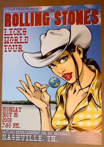ROLLING STONES - 40 LICKS TOUR POSTER - NASHVILLE  -JOE WHYTE