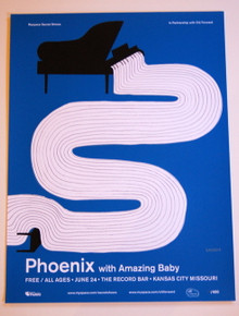 PHOENIX W/ AMAZING BABY - THE RECORD BAR - 2009 - MYSPACE SECRET SHOW POSTER