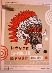 NEVER SHOUT NEVER W/ THE READY SET - 2010 - MYSPACE SECRET SHOW CONCERT POSTER