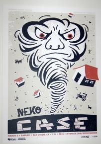 NEKO CASE - MIDDLE CYCLONE - CASBAH - MARCH 2009 - MYSPACE SECRET SHOW POSTER
