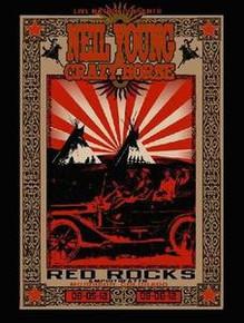 NEIL YOUNG - 2012 - RED ROCKS - ALABAMA SHAKES - TOUR POSTER - RICHARD BIFFLE
