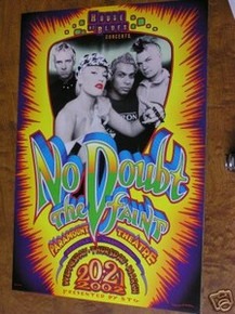 NO DOUBT - STEFANI - FAINT -LOVE ANGEL TUTEN  - POSTER