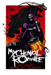 MY CHEMICAL ROMANCE - RHYS COOPER - 2007 - MELBOURNE -  TOUR POSTER -