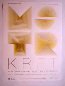 METRO KRFT W/ BIRD PETERSON - 2009 - MYSPACE SECRET SHOW CONCERT POSTER