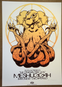 MESHUGGAH - BARONESS - DECAPITATED  - 2012 TOUR POSTER - JERMAINE ROGERS -