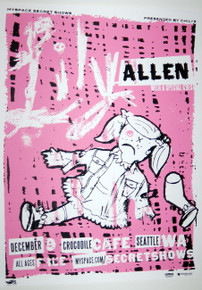 LILY ALLEN - CROCODILE CAFE - DECEMBER 2009 - MYSPACE SECRET SHOW POSTER