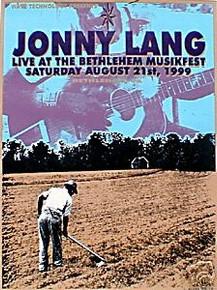 JONNY LANG - 1999 - SMOKIN - BETHLEHEM PA - POSTER - LINDSEY KUHN