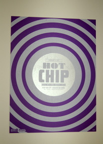 HOT CHIP W/ FREE ENERGY - PURPLE VARIANT - MYSPACE SECRET SHOW CONCERT POSTER