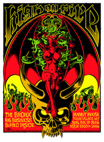 HIGH ON FIRE - BIG BUSINESS - 2006 - JACKSON HOLE - TOUR POSTER - STAINBOY